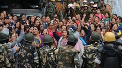 Darjeeling On Edge As Protesters Take Out Rally With Body Of Activist Killed In Clashes With