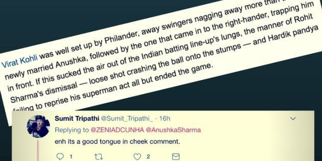 A Cricket Writer Compared Bowling To 'Newly-Married Anushka's Nagging' And Men Just Can't Understand...