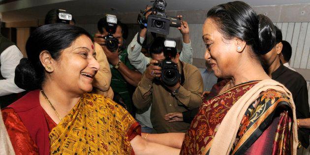 WATCH: Not So Long Ago, Sushma Swaraj Told Meira Kumar She Was Smitten By