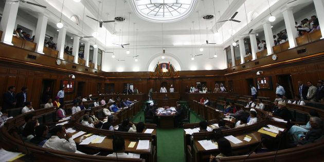 Two Men Shoot Paper Missiles From Visitor's Gallery In Delhi Assembly, Get Thrashed By