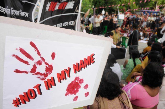 Citizens protest named 'Not In My Name' against recent lynching incidents at Madhusudan Mancha on June...
