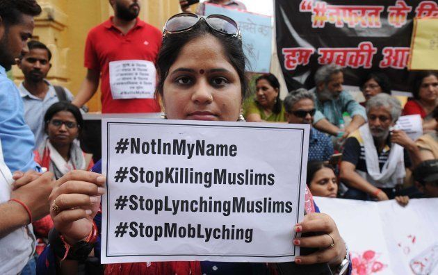 Many citizens hit the street in support of the campaign 'Not in My Name' against lynching of Muslim teenager...