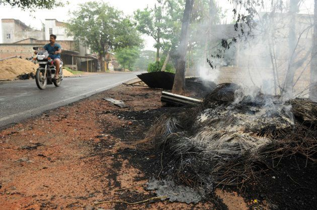 Vehicles torched in violence in Baduria after protests over an objectionable social media post on July...