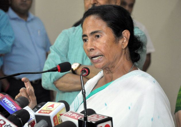 Mamata Banerjee Chief Minister of West Bengal addressing at Meet the press at State Secretariat office...
