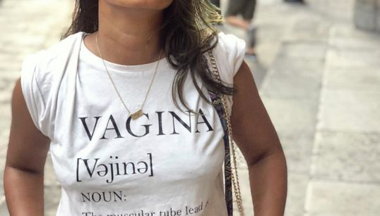 A Woman Wore A T-Shirt Printed With 'Vagina' And Men On Instagram Lost