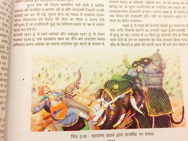 The Rajasthan Board's Social science textbook for Class 10 says that Akbar did not win the Battle of...