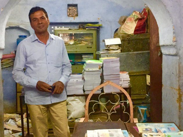 Mahvir Sihag, a math teacher in Rajasthan, at his