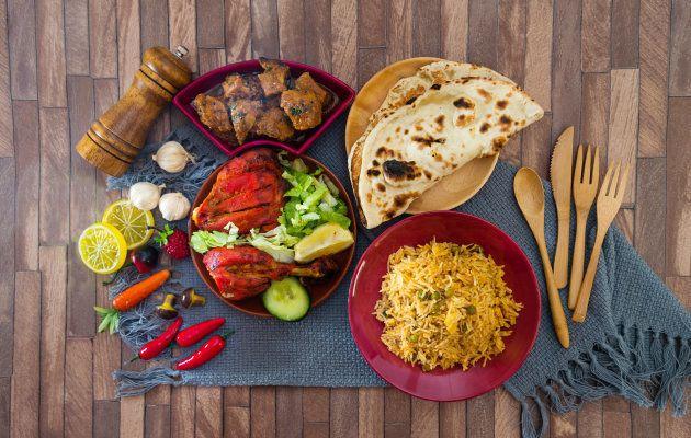 Indian food chicken Tikka Grill