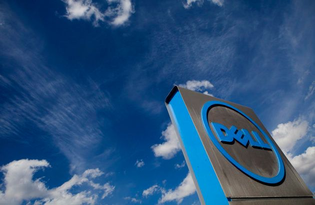 Dell Inc. signage is displayed outside of the company's headquarters in Austin, Texas, U.S., on Monday,...