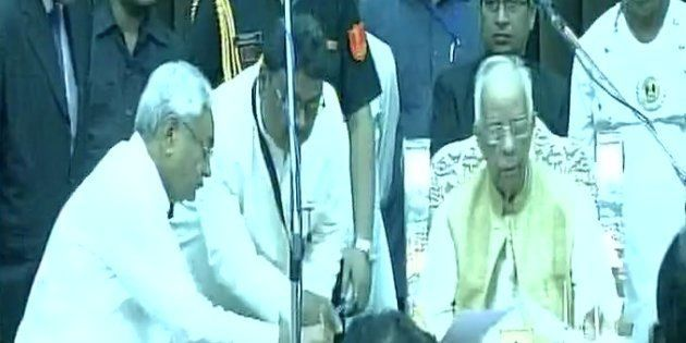 Nitish Kumar Sworn In As Bihar CM For The Sixth