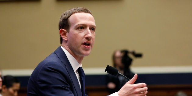 Facebook CEO Mark Zuckerberg testifies before a House Energy and Commerce Committee hearing regarding...