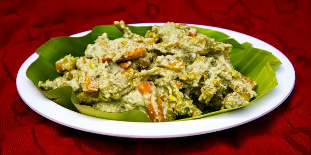 Aviyal is a vegetarian dish from Kerala.