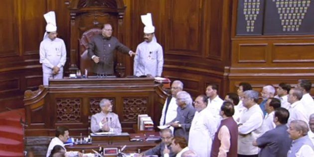 Arun Jaitley Claims Karnataka Minister Was 'Tearing Papers' As Congress Protests IT Raids In