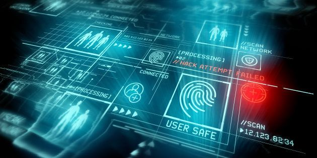 Digital Security and data protection. Conceptual illustration with advanced technology digital