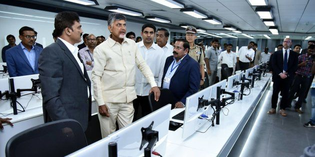 AP CM N Chandrababu Naidu at the inauguration of the