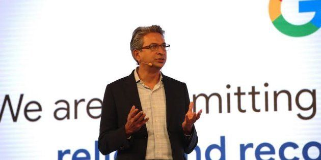 Rajan Anandan, Google's vice-president for South East Asia and India, speaking at Google For India in