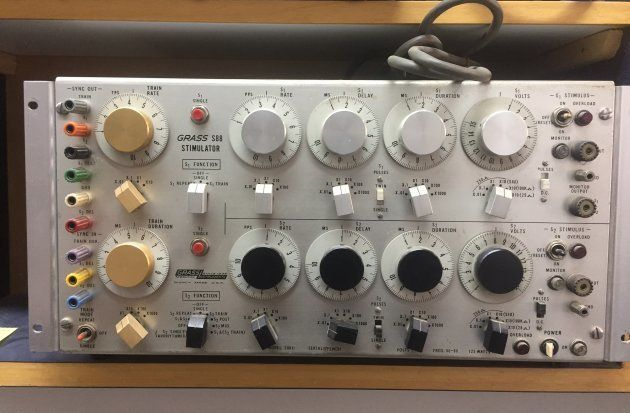 An analogue stimulator that's part of the equipment gathered at the NCBS