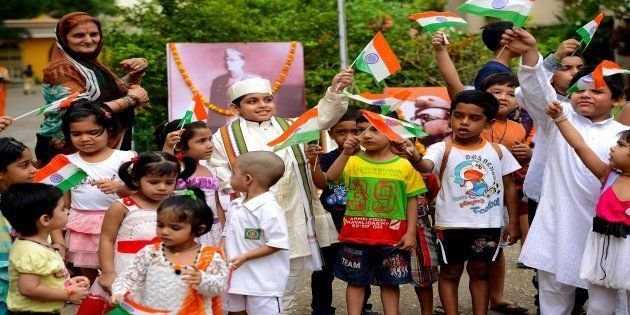 File photo of children celebrating Independence Day in
