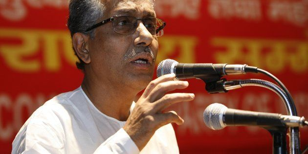 CM of Tripura, Manik Sarkar at the Announcement of National Convention on the Right to Food and