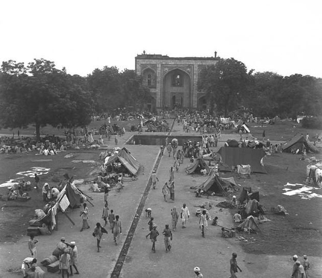 A view of the Humayun's Tomb Camp in Delhi for Muslim refugees during the disturbances in