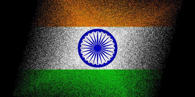 Creative concept illustration of India flag isolated on