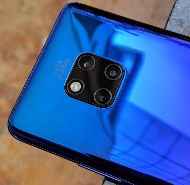 The phone has a very unusual camera layout and a striking