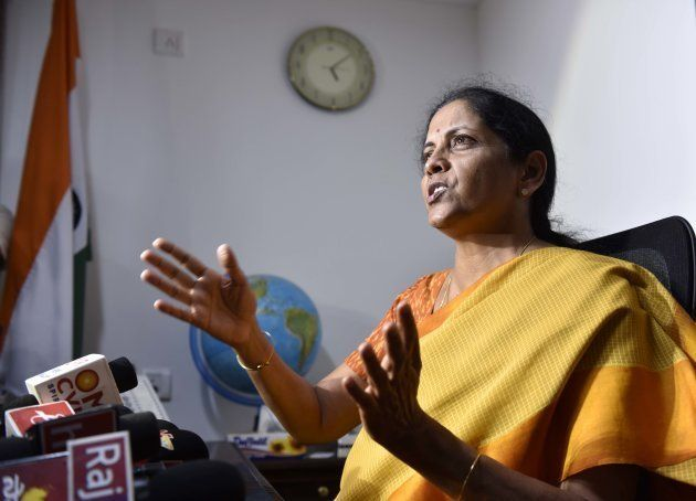 Nirmala Sitharaman, new Union Defence Minister, during a press conference at her residence, on September...