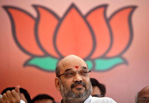 File photo of Amit Shah, president of India's ruling Bharatiya Janata Party