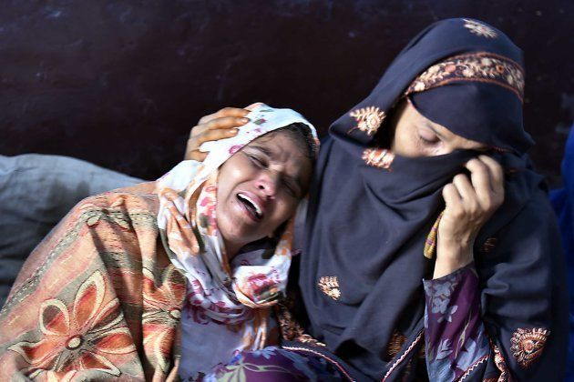 Saira, mother of Junaid, mourns at her house on the occasion of Eid-Ul-Fitr, who was murdered after a...