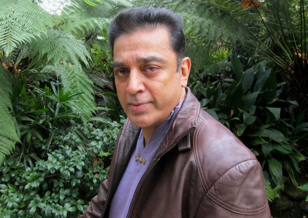 Kamal Haasan, star of the film 'Vishwaroopam' poses during an interview with Reuters Television in Los...
