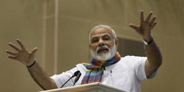 Prime Minister Narendra Modi addresses the gathering at Sahkar Sammelan, on the occasion of birth centenary...