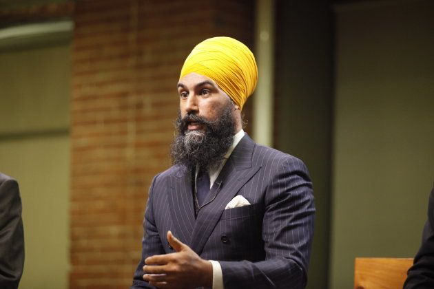 Jagmeet Singh speaks during an NDP leadership debate on Sept. 27, 2017. (Photo: Charla Jones/HuffPost