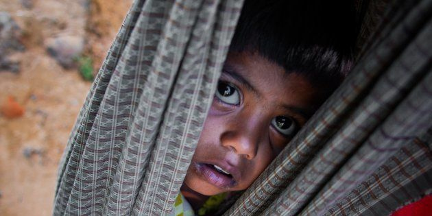 COXS BAZAR, BANGLADESH OCTOBER 11: 4-year-old Rohingya kid Shehna starts journey from Myanmar on the...