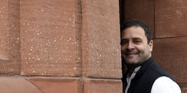 Congress Vice President Rahul Gandhi arrives for attending the first day of the Parliament Budget Session...