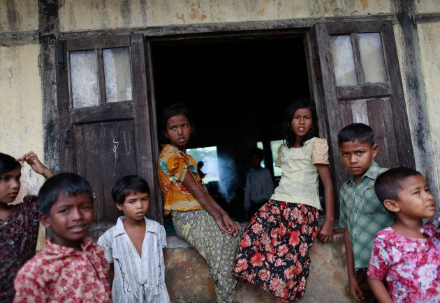 Muslim children are seen at a refugee camp outside of Sittwe May 16, 2013. Myanmar?s Immigration Minister...