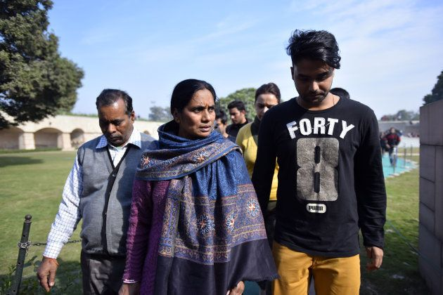 Mother and father of Nirbhaya, the victim of a fatal gang-rape in a moving bus on December 16,