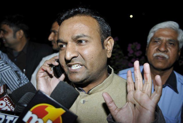 Nachiketa Walnekar, claiming to be an activist of the BJP, interacted with media person after throwing...