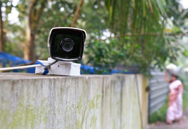 A CCTV camera, installed on the boundary wall of the house of K M Ashokan, father of 24-year-old Akhila,...