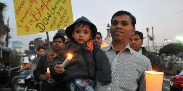 Bhopal gas tragedy survivors and others paying tribute to the victims of the world`s biggest Industrial...