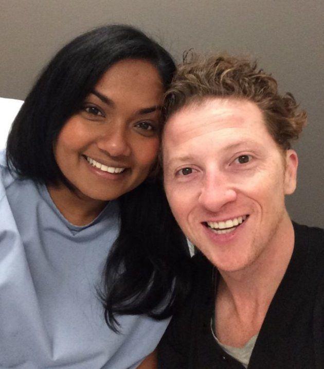 Sheila Wijayasinghe and her husband Corey