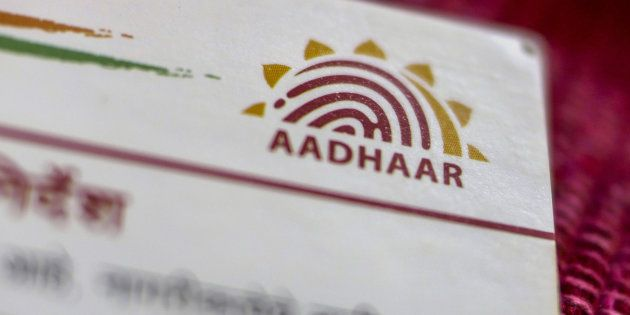 An Aadhaar biometric identity card, issued by the Unique Identification Authority of India (UIDAI), is...