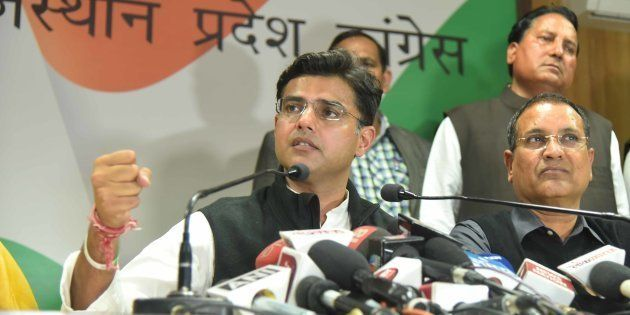 State Party President Sachin Pilot along with leader of opposition Rameshwar Dudy and other office bearers...