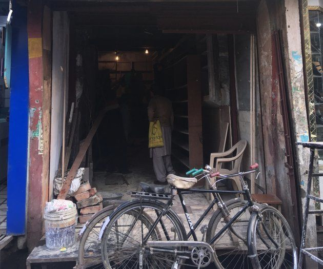 Sherwani Boot House was torched in the communal violence that erupted in