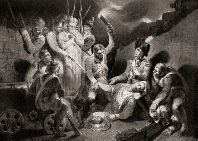 Discovery of the body of Tipu Sahib at Seringapatam,