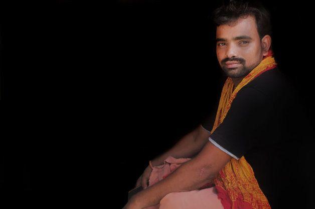 Ashok Poojary at his home in Naravi, Karnataka in May, 2018.