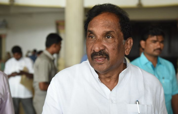 Minister of Development and Planning KJ George on March 23, 2018 in Bengaluru, India.