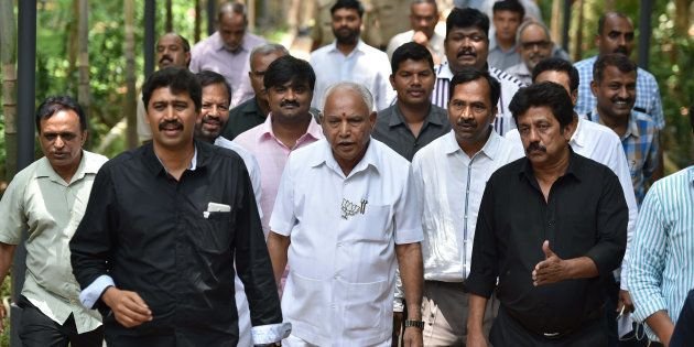 BENGALURU, INDIA - MAY 6: Bharatiya Janata Party's Chief Minister candidate BS Yeddyurappa during a press...