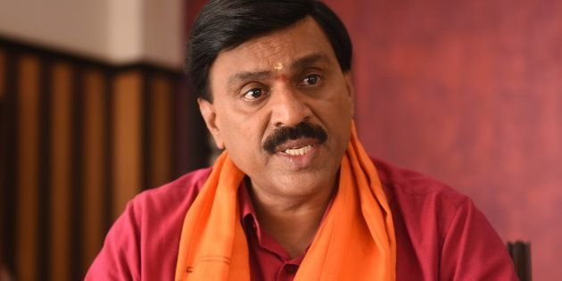 BJP leader and mining baron Janardhan Reddy during an interview at his rented bungalow at Hangal on April 21, 2018 in Chitradurga, India.