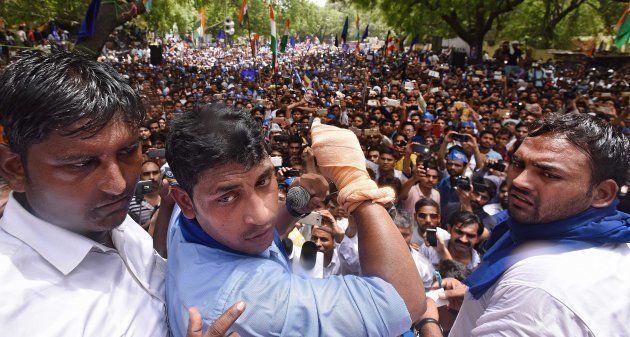Chandrashekhar Azad at Jantar Mantar on May 21, 2017 in New