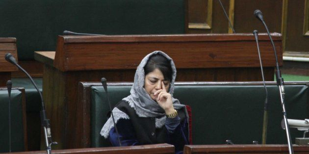 Mehbooba Mufti during the Budget Session in Legislative Assembly, on January 16, 2017 in Jammu,